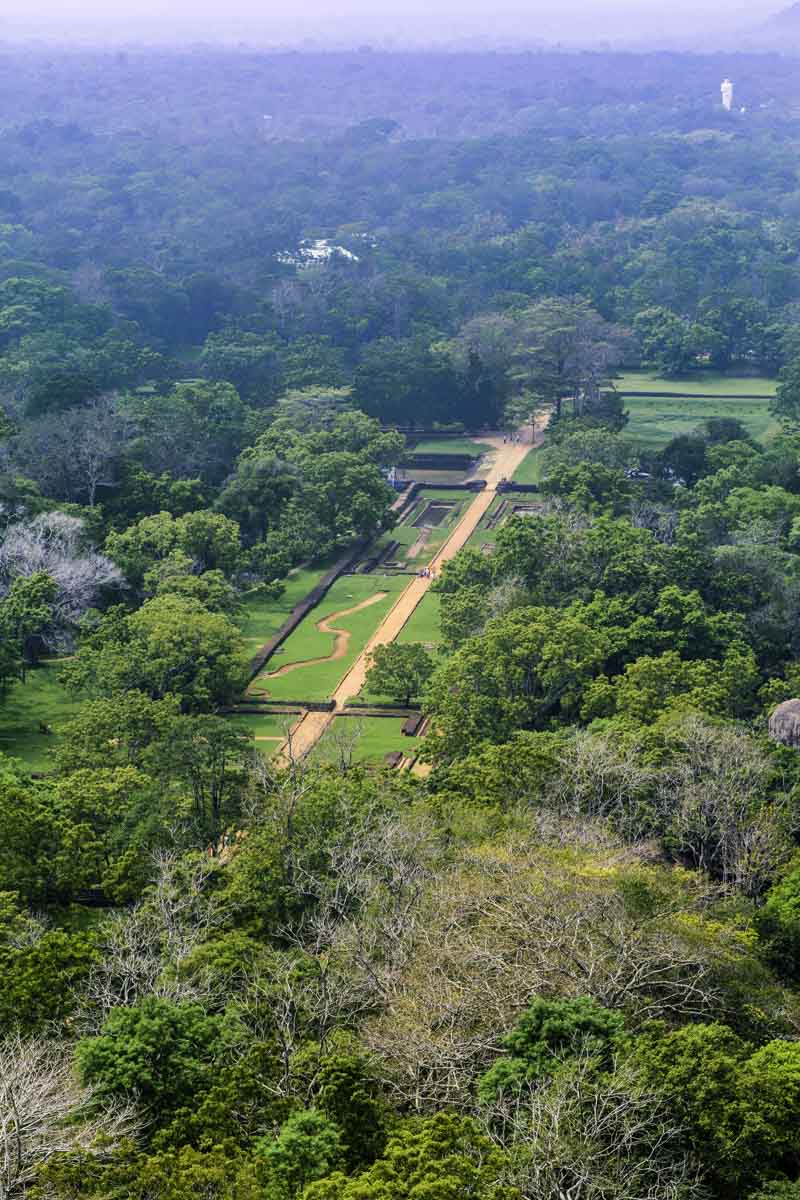 View from the top of the Sigiriya