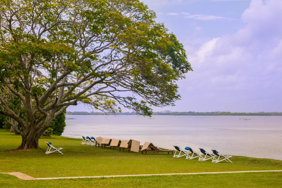 The view of Negombo Lake from Jetwing Lagoon