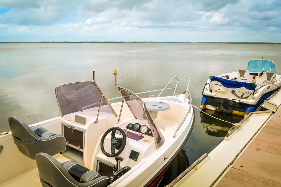 Boats at Jetwing Lagoon Negombo